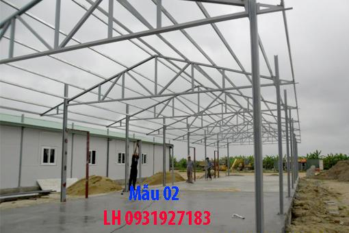 thi công mái tôn nhà xưởng tại Đà Nẵng