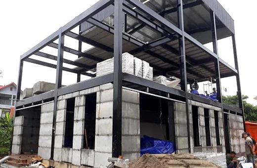 Thi công lắp dựng nhà tiền chế tại Đà Nẵng 3